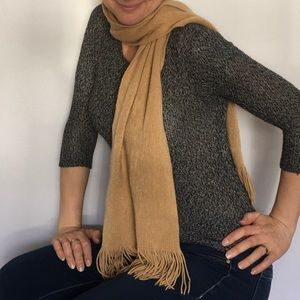 Echo Soft Brown Tasseled Acrylic Unisex Scarf